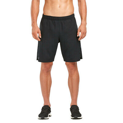 2XU Mens Training Gym Fitness 2 In 1 Compression 9 Inch Shorts Pants