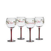 Pfaltzgraff Winterberry Wine Glasses