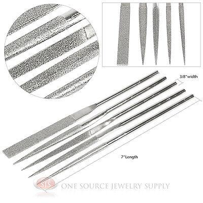 Assorted Shape Diamond Coated Needle Jewelry Gunsmith Files 5 Piece Tools