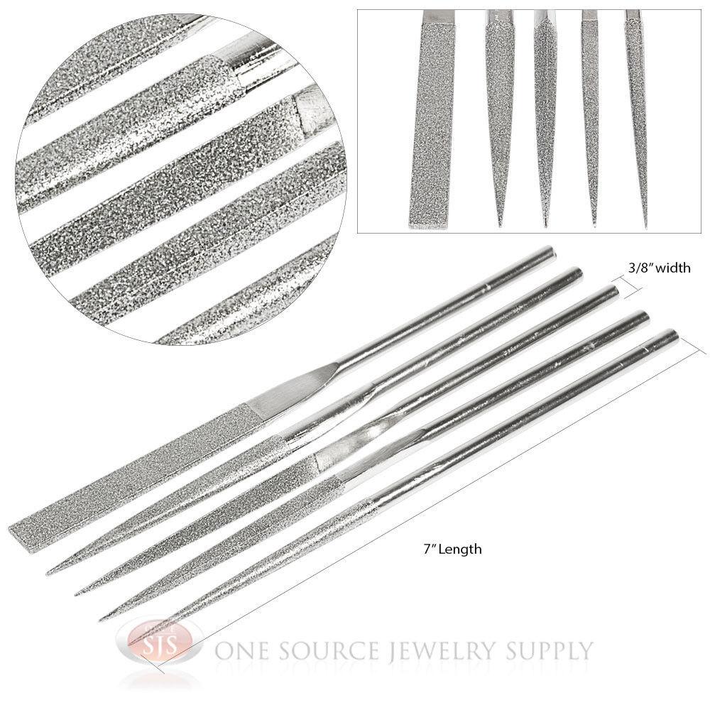 assorted shape diamond coated needle jewelry gunsmith files 5 piece tools ebay. Black Bedroom Furniture Sets. Home Design Ideas