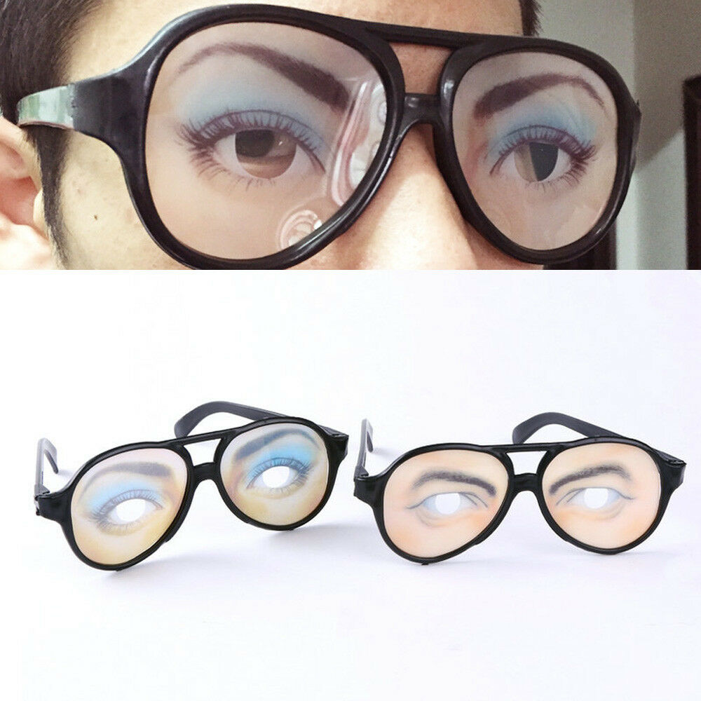 8e03f69838 Funny Eyes Glasses Specks Shaped Changing Fancy Shades Birthday Party Joke  Props