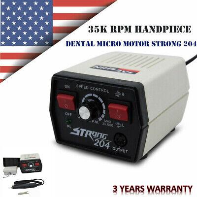 Dental Micro Motor Micromotor Strong 204 W 102l Handpiece Polisher For Marathon