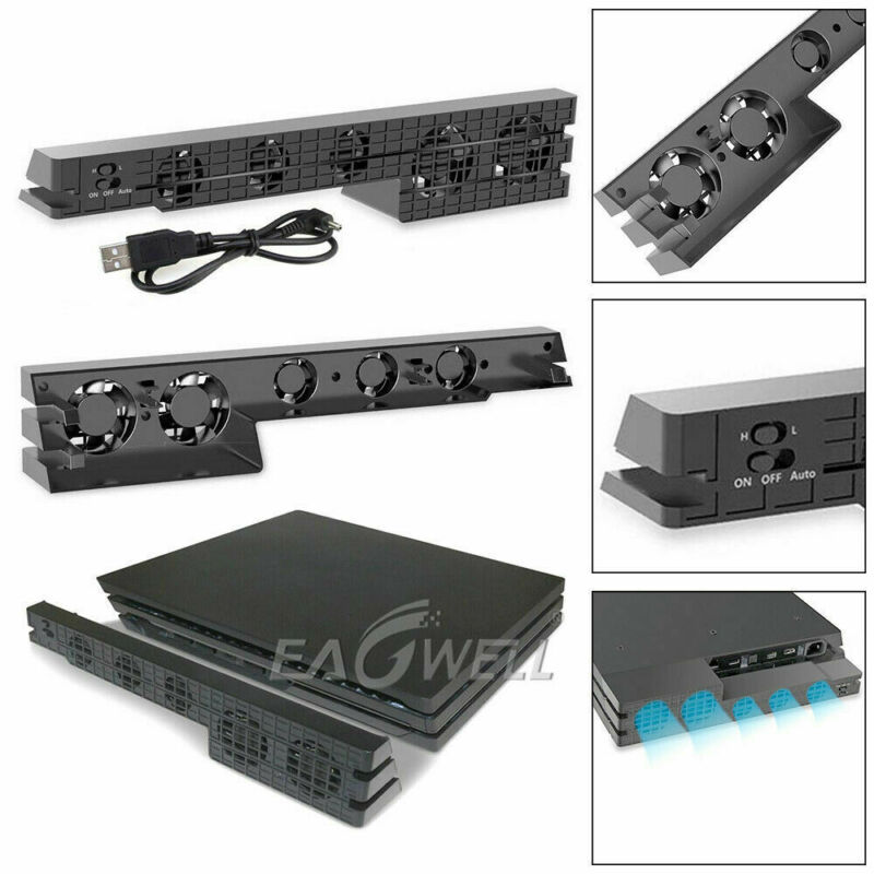 For PS4/PS4 Pro Game Accessories Play Station 4 Host Cooling Fan Cooler External
