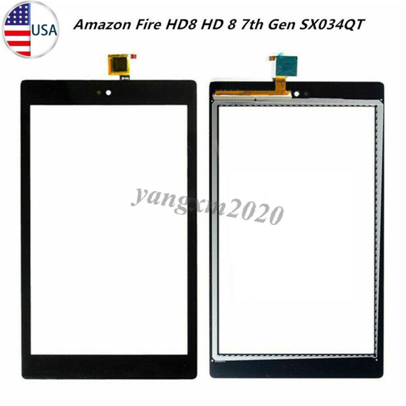 """Replacement For Amazon Fire HD 8 7th Gen SX034QT Touch Screen Digitizer Glass 8"""""""