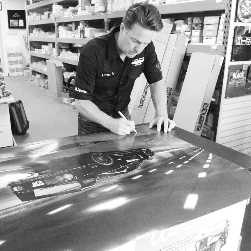 Gas Monkey Garage Ferrari F-40 Poster Signed By Dennis Collins From Fast N