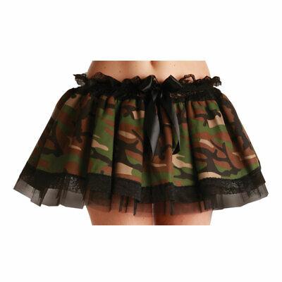 Armee Camouflage Militär Tutu Unterrock Petticoat Damen Kostüm