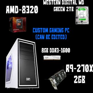 Custom Gaming PC (base build parts can be changed to suit you) Naracoorte Naracoorte Area Preview