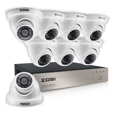 Camara De Seguridad Para Casas Profesionales 8Ch Hd Tvi Video Security System