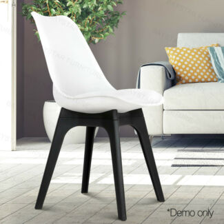 Padded Thick Seat PP Legs PU Leather Dining Chair
