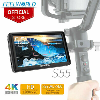 FEELWORLD S55 5.5 Inch IPS on Camera Field DSLR Monitor Focus Assist for DSLR