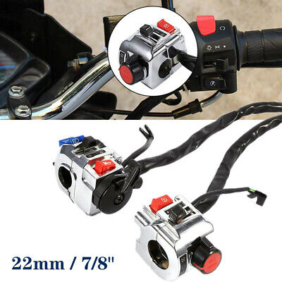 12V DC Motorcycle Handlebar Switch Control Assembly Horn Indicator Start Button