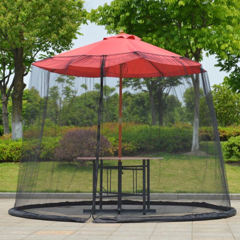 Outdoor Garden Patio Umbrella Parasol Mesh Net Screen Cover
