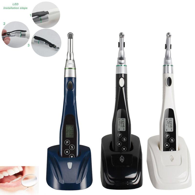 Dental LED Wireless Mini Endo Motor Treatment Button 16:1 Reduction Contra Angle