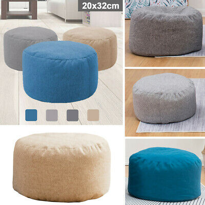 Colors Bean Bag Cover Ottoman Footstool Round Foot Stool Chair Cover US -