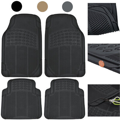 Car Floor Mats 4 Pieces Set Rubber Heavy Duty Protection Interior Trimmable 2007 Ford Escape 4 Piece