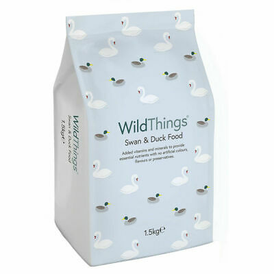 WILD THINGS SWAN & DUCK FOOD 1.5kg - Floating Pellets Nuggets Waterfowl