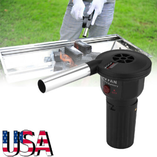 Electric Barbecue BBQ Grill Fan Camping Cooking Air Fire Blo