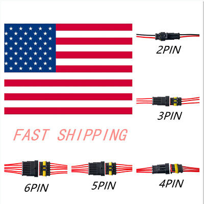 2-10set26pin Car Waterproof Male Female Electrical Connector Plug Wire Kit Set