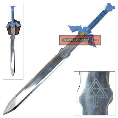 Legend of Zelda Master Sword Full Tang Steel Replica Wind Waker Triforce Etched - Zelda Master Sword