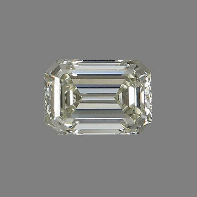 Lovely 7 X 5 MM 0.98 CT Off White Emerald Shape Cut Loose Moissanite 4 Ring 7x5 Emerald Shape Ring