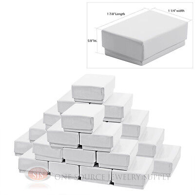 25 Gloss White Cotton Filled Gift Boxes 1 78 X 1 14 Ring Charm Jewelry Box