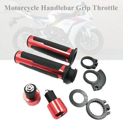 1Pair 22mm 7/8'' Motorcycle Handle Bar Grip Throttle End Indicator Grip Plug Kit
