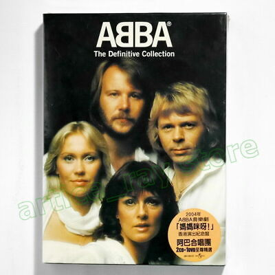 ABBA The Definitive Collection Taiwan 2 CD DVD BOX Best Greatest Hits 2004 NEW