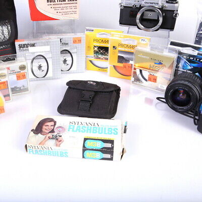 Lot of Assorted 35mm Cameras and Camera Accessories (Film Photography) - (AI)