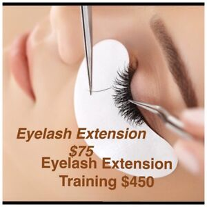 EYELASH EXTENSIONS $75 EYELASH EXTENSION COURSE $450