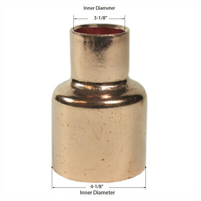 Libra Supply 4 X 34 Inch X 3 Inch Copper Pressure Coupling Bell Reducer Cxc