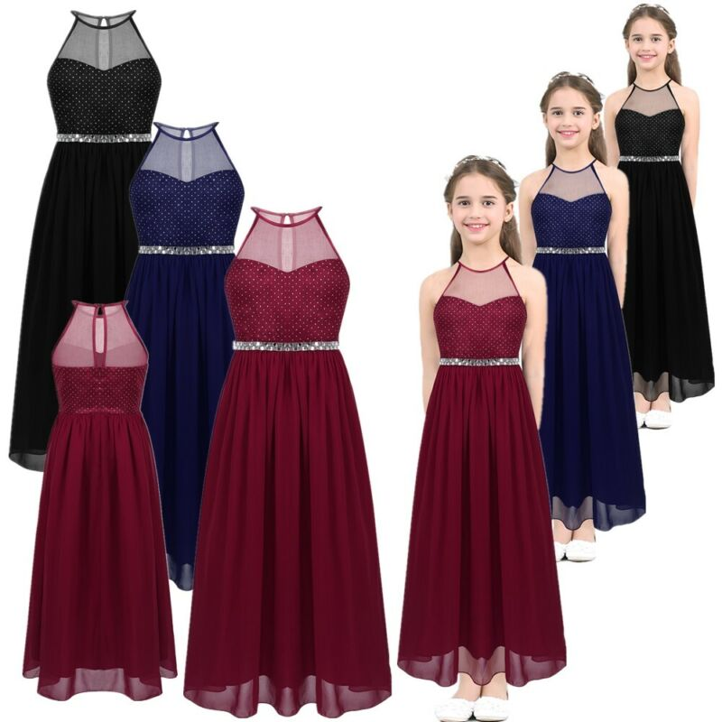 Flower Kid Girl Dress Party Pageant Princess Formal Bridesmaid Wedding Dresses