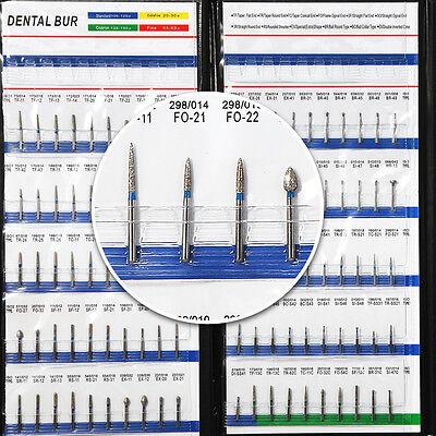 200 Dental High Speed Turbine Diamond Burs Ball Round Fg1.6mm For Handpiece