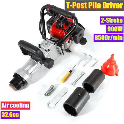 2-Stroke Fence Hammer T Post Driver Garden Farm Pile Driver Petrol Powered 900W