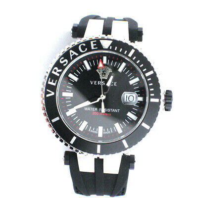 Versace Men's Watch VAK010016 V-Race Diver Mens Stainless Steel Swiss Quartz