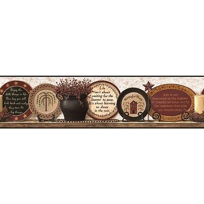 COUNTRY PLATES  TWO WALLPAPER BORDER  BY YORK