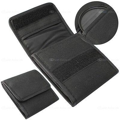 Filtertasche für UV, CPL, ND Tasche Etui für Kamera Objektiv Filter bis 67mm