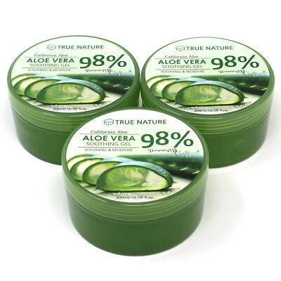 3 Pack Aloe Vera Gel For Face Body - Soothing Moisture 300ml 10.58oz Bulk