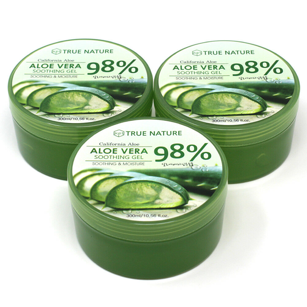 3 PACK Aloe Vera Gel for Face & Body - Soothing & Moisture 3