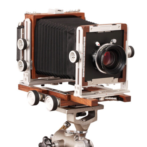 как выглядит Shen Hao TFC69-A 6x9 Non-Folding Medium Format Camera Black Walnut Wood Bellows фото