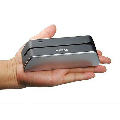 Msrx6 Mini Magnetic Credit Card Reader Writer Encoder Mag Stripe Swipe Msr206