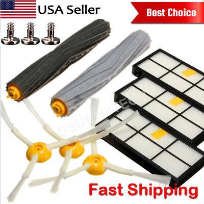 For iRobot Roomba Filters 800 & 900 Series Part Kit 880 890 980 Vacuum Brush