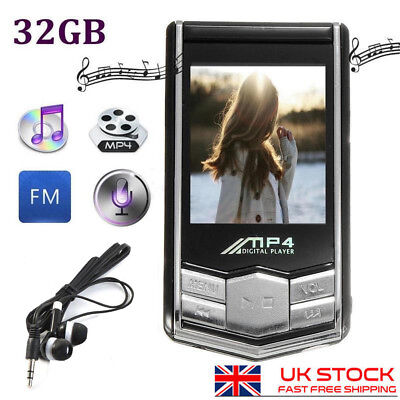 "32GB MP4 MP3 1.8"" Generation Music Media Player With Video Mic Hifi Headphone"