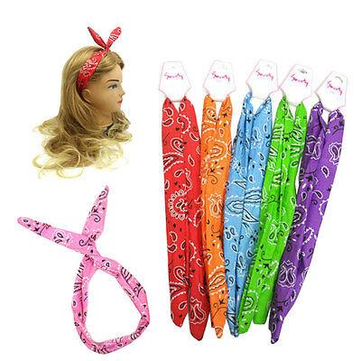 [Sweety] Bunny Rabbit Ear Wire Headbands Head wrap Hairbands Paisley Design