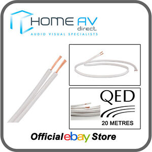QED 42 Strand 20 Metres OFC Speaker Cable High Quality Copper- White | C-42/20W