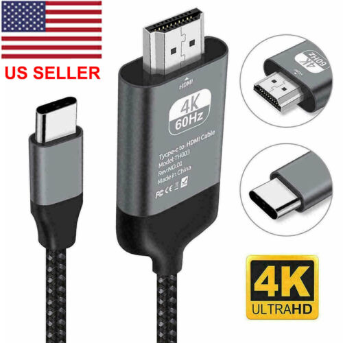 4K USB Type-C to HDMI HDTV AV TV Cable Adapter For Samsung Galaxy S10 S9 MacBook