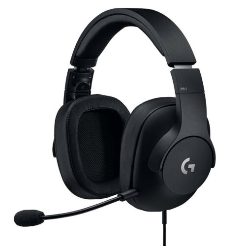 Logitech G PRO Wired Surround Sound Gaming Headset for PC, PS4, Nintendo Switch, Xbox One, VR Black 981-000719