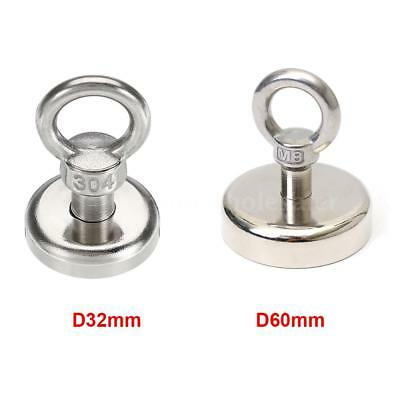 D60mm Heavy Duty Neodymium Lifting Magnet Holder Recovery Fishing Tool V0x4