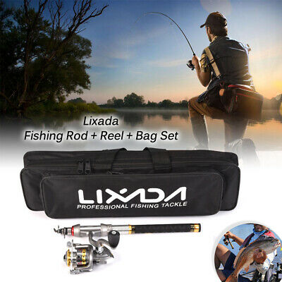 Lixada Telescopic Fishing Rod Spinning Reel Combo Gear Organ