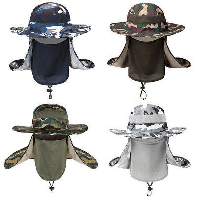 Männer Tarnen Gesicht abdecken Fischer Hut Sonnenschutz Hut Mit Breiter Krempe