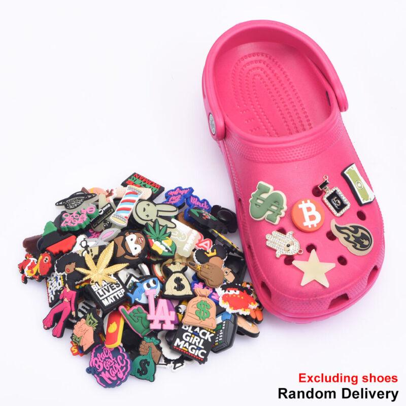 50Pcs  PVC Shoes Charms Cute Cartoon Animals Crocs Wristbands  Kids